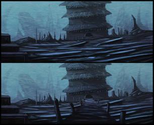 frozen lake by TreeFruit