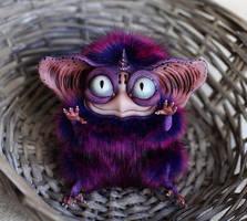 Sowl mini: Purple Imp one horn by Santani
