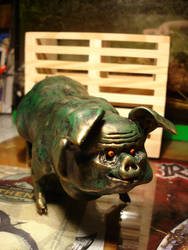 long green pig by Santani
