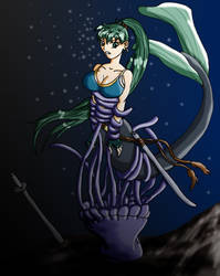 Mermaid Lyn caught by Wing-Saber
