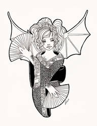 Sketch 1 - Dragon Girl by bombthemoon