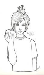 Sketch 2 - Kurosawa Haruki by bombthemoon