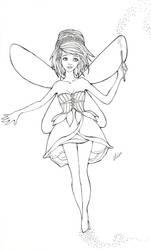 Sketch 3 - Pixie Magic by bombthemoon