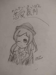 Love Trial Miku Sketch by CJSmileyz