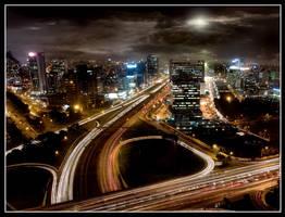 Bright Light, city lights by renefunk