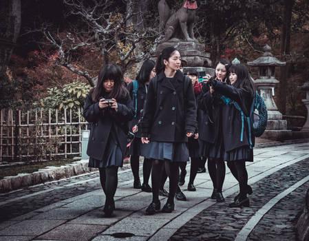 Kyoto - School girls. by MMalkavian
