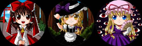 Touhou Buttons by Marira