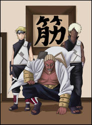 Forth Raikage, Shee and Darui by abzies