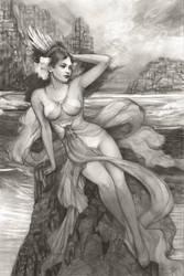 Siren Sketch by PinkParasol