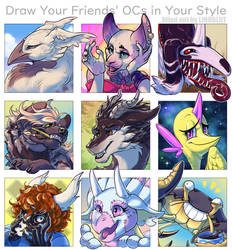 Draw Your Friends OCs meme by Lindblut