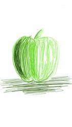 manzana verde :3 by M4r14NN
