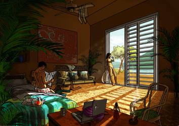 Habitacion en Hawaii by SantosArt