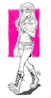 Lily - random sketch by eserioart