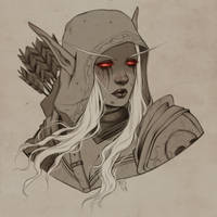 Sylvanas Windrunner - bust commission example by eserioart