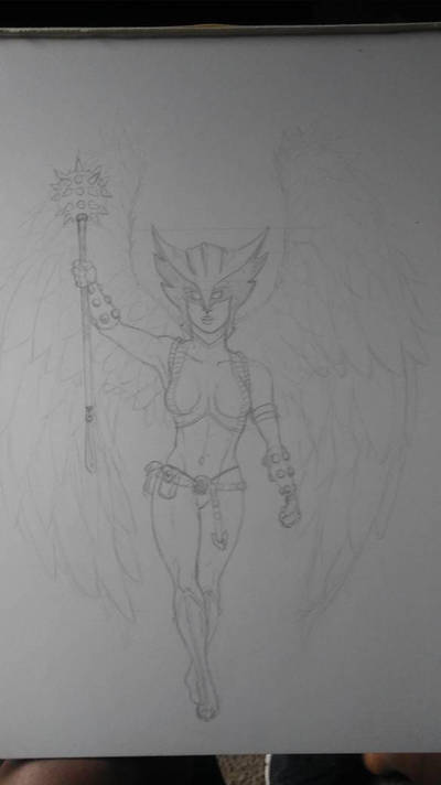 Hawkgirl sketch by JAWSART