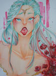 .:Contest:. Traditional Portrait by Hane-no-hi