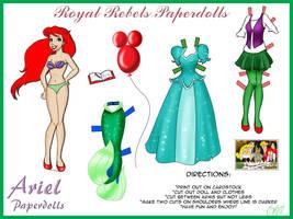 RR: Paperdolls Ariel by ValerieGallery