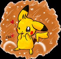 Chu, the Pikachu by KiwiBeagle