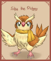 Sky the Pidgey by KiwiBeagle