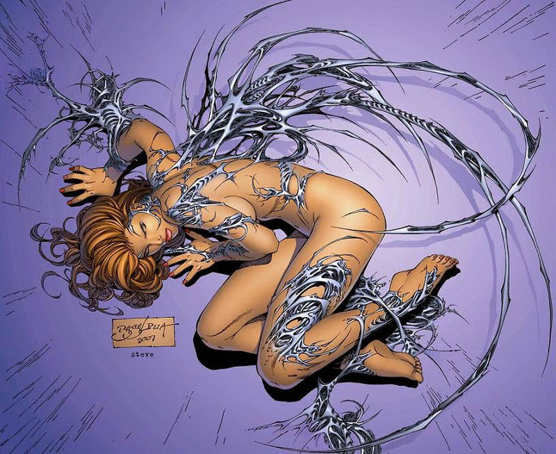 e.Bas Witchblade fetal position  by ebas