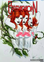 eBas Harley Quinn and Poison Ivy embrace  by ebas