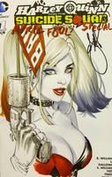 e.Bas Harley Quinn copic bust  by ebas