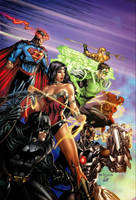 e.Bas Justice League of America  by ebas
