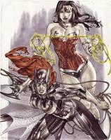 eBas Copic Wonder Woman Batgirl  by ebas