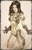 eBas copic Witchblade badassery by ebas