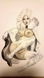 eBas copic sketch of White Queen  by ebas