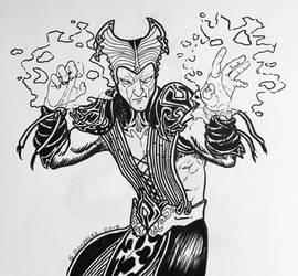 Inktober day 4 - Shinnok  by Demondog888
