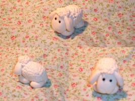 Fimo sheep by KasumiDark