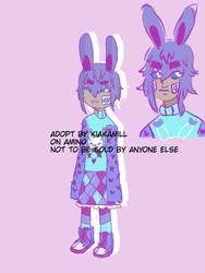 bunny boy adoptable with lineless headshot.  by KiaKamill