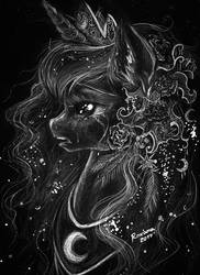 Luna: Please don't go to sleep... by Arnne
