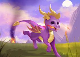 Mischievous purple Dragon by AshleyLun