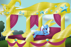 Trixie on Her Bed by MikorutheHedgehog