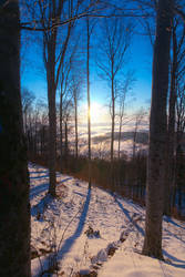 Winter sunset II by hrvojemihajlic