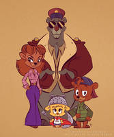 TaleSpin Crew DuckTales Style by hard-headed-woman