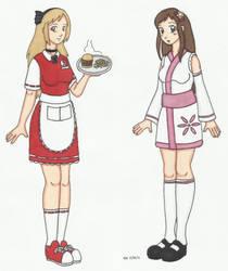Haruna and Hikari alt by SagashiIndustries