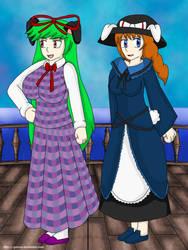 Bunko and Aika by SagashiIndustries