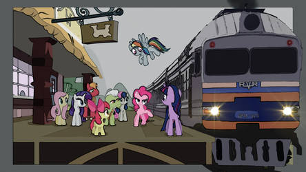 Ponyville Train Station by MadMike-FX