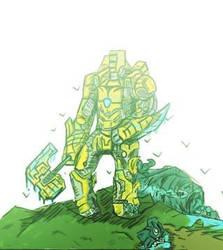 Kaiju hunter by dinosaurbook