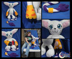 Gatomon Plushie by NsomniacArtist