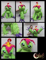 Palmon Plushie by NsomniacArtist