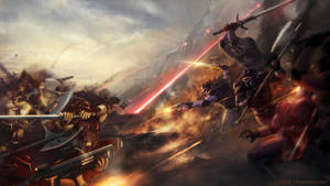 Battle scene by Forge-T