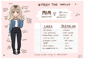 Meet the artist by mellowshy