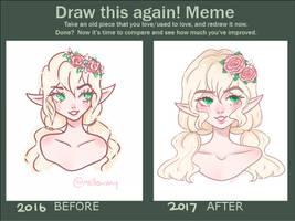 Draw this again! meme by mellowshy