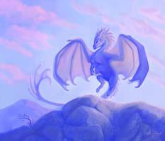 Mountain coast dragon by PaintedKelpie