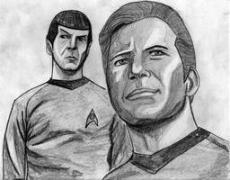 kirk  spock by Zombilein