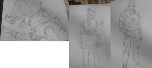 Skeletor/Randor/Keldor sketch by Zombilein
